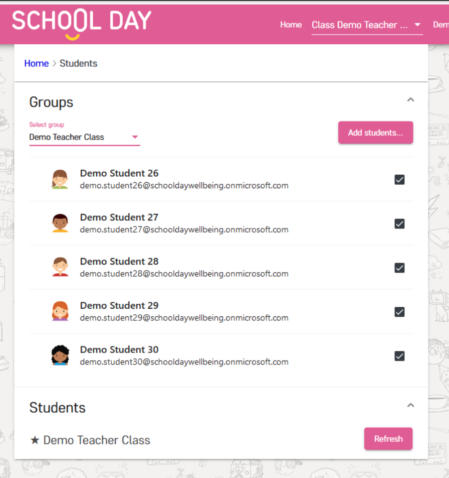 Step three when Adding Students to School Day on Microsoft Teams